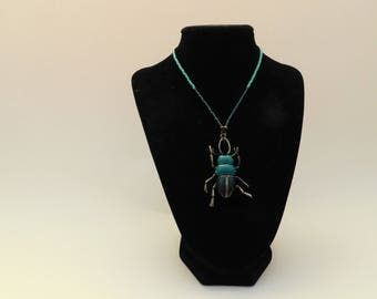 Scarabe Beetle Beaded Necklace