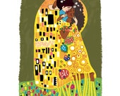 The Kiss by Klimt - Intersectional Inktober Version - Print - Hand-Illustrated