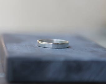 Halo Band - Minimalist Ring - Sterling Silver Ring Band - Unisex Design - Polished Silver Band - Stackable Ring - Minimalist Boho
