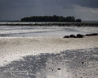 Stormy Landscape Photography - Strangford Lough Fine Art Photograph - Irish Seascape Art