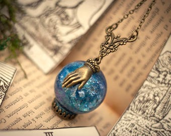 The Fortune Teller Necklace, Psychic Reading, Fortune Telling, Tarot, Psychic, Tarot Necklace, Wiccan Clothing, Wicca Necklace, Fantasy