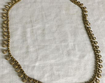 Glass and Brass Choker - 16 ""