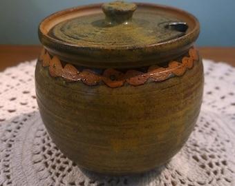 Studio Pottery preserve or honey pot