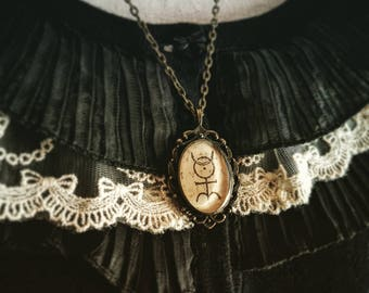 Monas Hieroglyphica (or Hieroglyphic Monad) Cameo - Goth Jewellery - Gothic - Occult - Occultism - Esotericism - Alchemy - Astrology - Dark