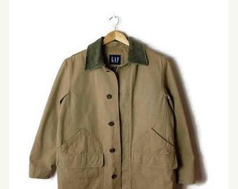 ON SALE Vintage Cotton x Corduroy collared Hunting jacket/Coat from 90's*