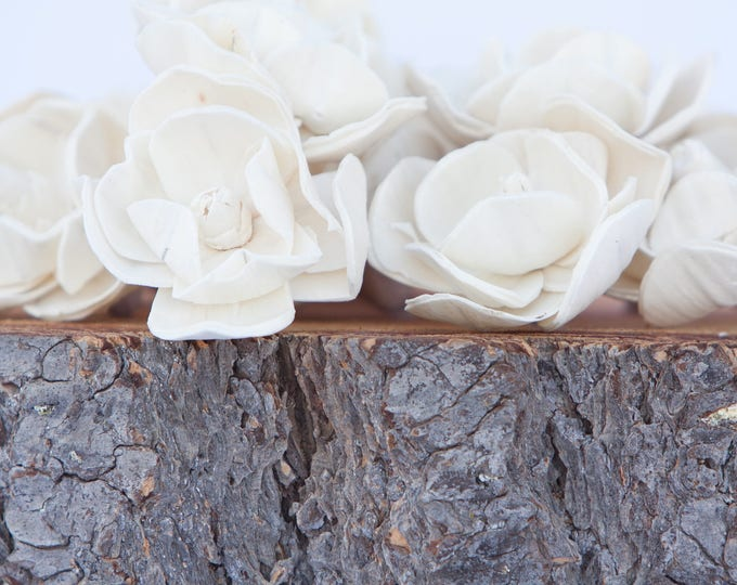 Sola Magnolia Flowers- SET OF 10 , Sola Flowers, Wood Sola Flowers, Magnolia Sola, Balsa Wood Flowers, Wedding DIY, Flowers for Crafting
