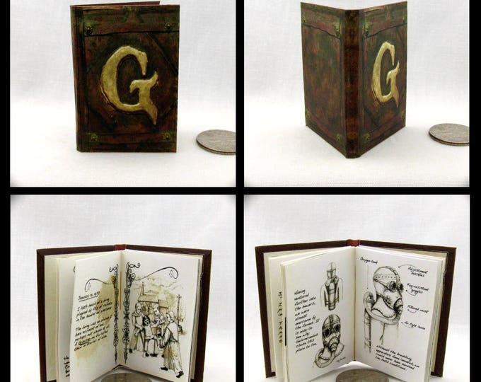 GRIMM DIARY 1:6 Scale Readable Illustrated Miniature Book Barbie Doll Book Wesen Lore Legends Folklore Glühenvolk Musai Cracker-Mortel