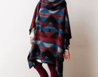 MEDICINE PONCHO  by Priestess + Deer - wool, all natural fibres only, handmade