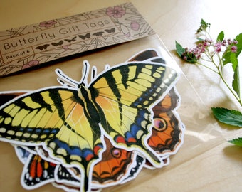 Butterfly Gift Tags - Decorative Bows, Gift Decor