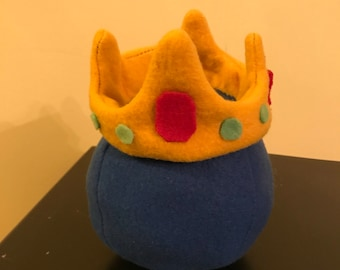 Terraria Inspired King Slime, Boss Fleece Pillow, Doll or Toy, Handmade Terraria Pillow
