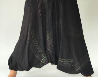 HC0514 Harem Pants Unisex Low Crotch Yoga Trousers, elephant pants