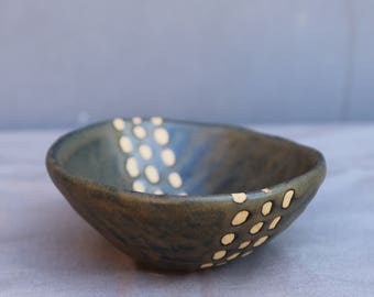 Ring Dish. Ceramic Ring Dish. Pottery Ring Bowl. Jewelry Holder.