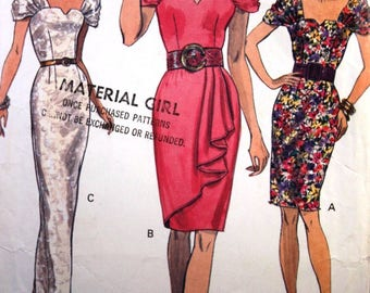 Vintage Sewing Pattern Vogue 8021 for a Woman Dress in Sizes 8-10-12