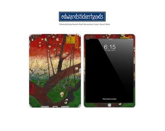 iPAD Decorative Decal Cover Skin - Van Gogh Flowering Plum Orchard (after Hiroshige) Pattern!