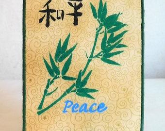 Peace Fabric Postcard