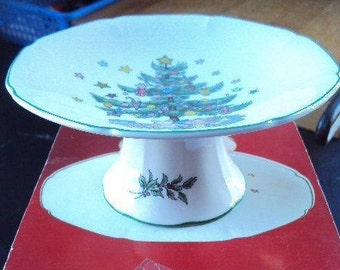 "Nikko Happy Holidays Christmas 6"" Compote"