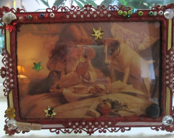 Bedtime Prayers, a metal framed image