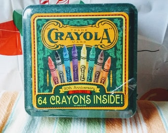 Vintage Crayola Crayons 90th Anniversary 1993 Collectible Tin