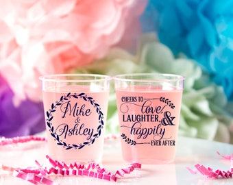 Wedding Shot Glass, Personalized Shot Glass, Plastic Custom Shot Glass, Wedding Favor Shot, Party Shot Glasses, Bachelorette Shot Glass