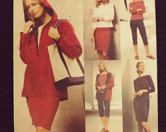 Vintage Vogue Sewing Pattern Uncut No. 2659 Five Easy Pieces Size 6, 8, 10  Jacket Top Dress Skirt Capris