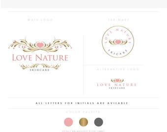 Olive Elegant Frame - Happy logo design logo - Decor Store - Flower Tree - children and family photographer logo - boutique
