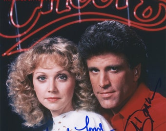 CHEERS Ted Danson Shelley Long Signed REPRINT Autographed Photo 8x10 COA