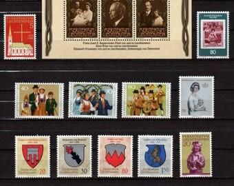 Liechtenstein Stamps, UNUSED Stamps, Postage Stamps, Liechtenstein Postage Stamps, Stamps,European Stamps, European Stamps, Stamp Collection