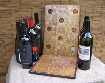 Wine Rack, Wine Display, Quarter Sawn White Oak / Black Walnut