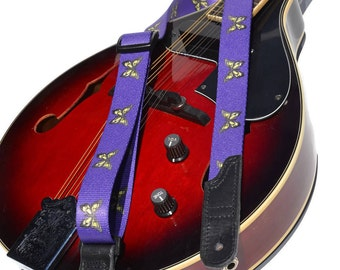 Guitar Strap or Mandolin or Ukulele Strap | Acoustic or Electric Guitar Strap | Music Instrument Strap | Butterfly Guitar Strap