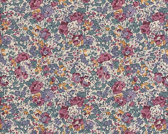 Liberty of London Claire Aude BlackBerry fabric coupon