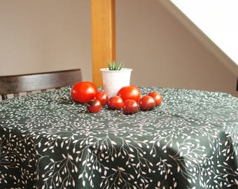 Linen tablecloth Scandinavian tablecloth Scandinavian Fabric Housewarming gift Floral linen tablecloth