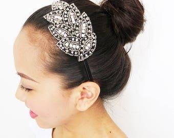 Sparkle Headband, Rhinestone Headband, Bridal Headband, Gatsby Headband, 20s Headband, Crystal Headband, Beaded Headband, Flapper Headband