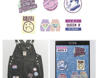 Gangsta Life Music and Mainstream Embroidered Sticker Patch Set Pop Culture Collection