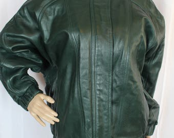 Preston and York forest green leather jacket