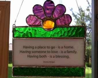 Stained Glass Quote Suncatcher