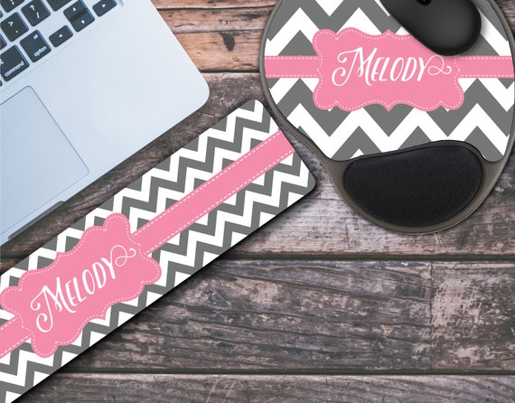 Personalized Mouse Pad with Wrist Rest & Keyboard Wrist Rest Memory Foam Wrist Wrest Mouse Pad Keyboard Wrist Pad Wrist Rest for Keyboard