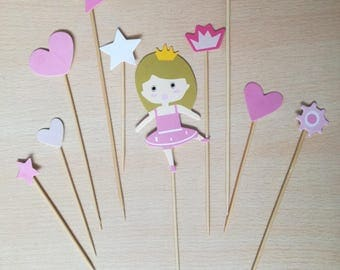 Cake topper for girl