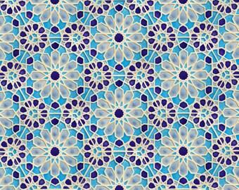 Hand Painted Moroccan Tiles - Bathroom Tiles - Ceramic Accent Tiles - Kitchen Backsplash Tiles - Decorative Tiles - Moroccan Coasters