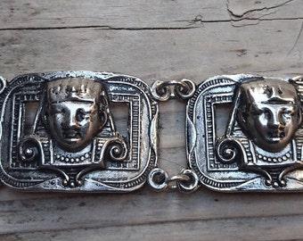 Vintage Egyptian panel bracelet