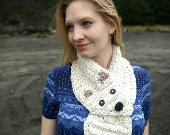 Fox Cowl crochet pattern, Fox Scarf crochet