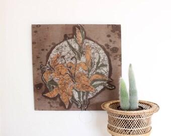 Vintage Floral Tapestry Tie Dye Tapestry 70's Artwork Boho Artwork Home Decor
