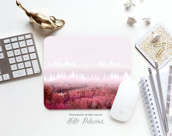 Mousepad Forest Mousepad Fall Forest Mouse Mat Christmas Mouse Pad Office Mousemat Rectangular Mousemat Forest Mousepad Round 121.