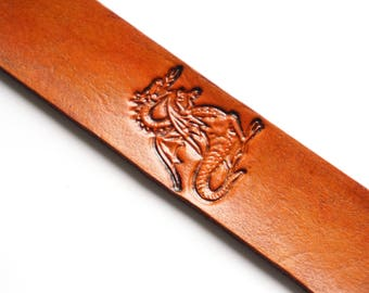 Leather Bookmark | Dragon