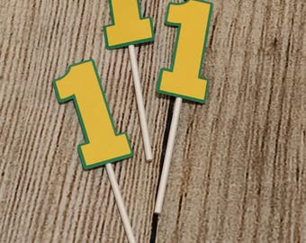 Birthday - Numbered Cupcake Topper - Customizable