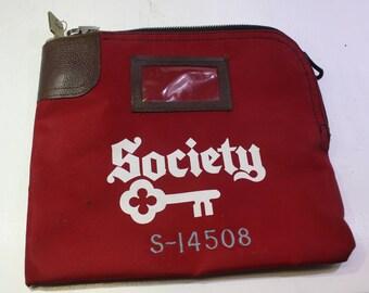 Vintage Society Bank  Dayton Ohio lockable  Bank money bag