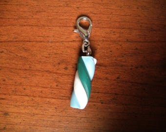Charm's green white blue candy snap charm