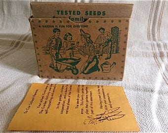 Vintage Seed Box and Seed Packets