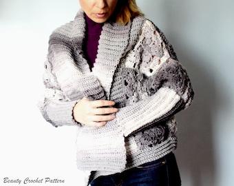 Cardigan Crochet Pattern, Crochet Cardigan Pattern Woman, Women Cardigan Pattern, Crochet Pattern Cardigan, Cardigan for Women pdf