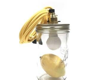 """Lamp """"Le Bocal Allumé"""" - Lemon"""