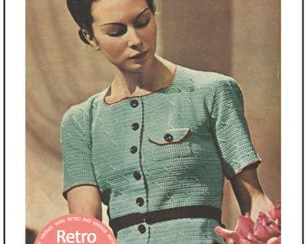 1930's Cardigan Blouse - Vintage Crochet Pattern - PDF Instant Download